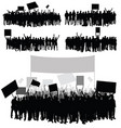 people silhouette in various poses set with vector image