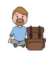 people travel bag vector image vector image