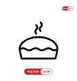 pie icon vector image vector image
