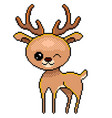 pixel cute deer detailed isolated vector image vector image