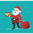 portrait of a Santa Claus with christmas gifts and vector image vector image