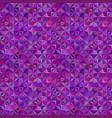 purple geometric striped mosaic pattern vector image vector image