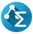 Science Formula Gradient Round Icon vector image