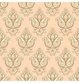 Seamless damask pattern Beige texture vector image vector image