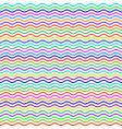 seamless pattern of multicolored wavy lines vector image