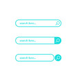 search blue bar element design set of search vector image vector image