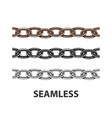 set metal chain seamless texture silver color vector image