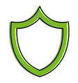 shield with safe secure padlock vector image
