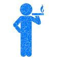smoking child grunge icon vector image vector image