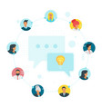 social network communication vector image vector image