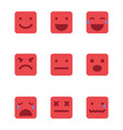 Squared emoticons icons set