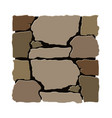 stone installation design element vector image