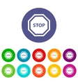 Stop flat icon vector image vector image