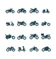 street bikes symbols silhouettes urban vector image vector image