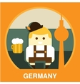 Traditional Germany Resident vector image