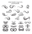 unique collection hand drawn swirls and curles vector image vector image