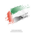 united arab emirates flag with halftone effect vector image