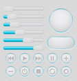 User interface slider buttons set light gray