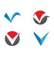 v letter logo template design vector image vector image