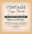 vintage label sign vector image