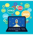 Web design coding vector image