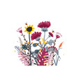 wild and honey meadow flowers bunch nature vector image