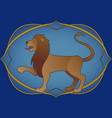 zodiac sign leo rampant lion inside in an vector image vector image