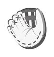 white baseball glove graphic vector image