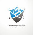 Data protection symbol concep vector image