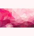 abstract irregular polygonal background hot pink vector image vector image