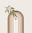 abstract sun print boho minimalist printable wall vector image vector image