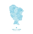 abstract swirls girl portrait silhouette pattern vector image vector image