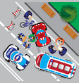accident involving a cyclist vector image vector image