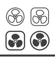 air fan turbine icons vector image
