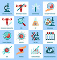 artificial insemination square icons set vector image