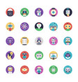 artificial intelligence flat icons pack vector image vector image