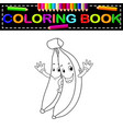 bananas with face coloring book vector image vector image