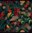 beautiful seamless pattern with realistic natural vector image vector image