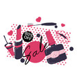 beauty cosmetics sale and banners 80 off price