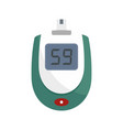blood glucose level icon flat style vector image vector image