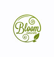 bloom logo round linear logo bloom vector image
