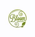 bloom logo round linear logo bloom vector image vector image