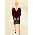 business women with case isolated vector image vector image