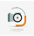 Camera company logo minimal design vector image vector image