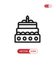 christmas cake icon vector image vector image