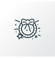 christmas wreath icon line symbol premium quality vector image vector image