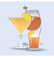 cocktail drink glass image vector image vector image