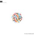colorful fingerprint icon vector image