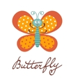 Cute colorful butterfly character vector image vector image