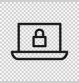 cyber security icon in transparent style padlock vector image vector image